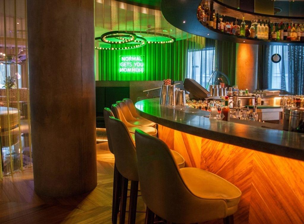 portfolio picture of the W hotel bar area